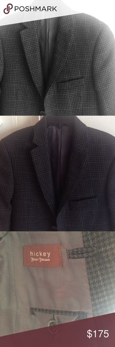 Boys 8 HICKEY FREEMAN SPORTSCOAT NWOT 100% wool tweed. My son would only wear navy Blazers with gold buttons and wouldn't wear this beauty. So sad for me. Size 8. No alterations have been made.  Bought from Gilt. Hickey Freeman Jackets & Coats Blazers