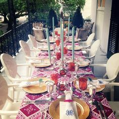 A Festive Fall Table: Monogrammed Napkins and colorful cloths-- Pick out all the goods for your Fall table at Lori Jayne Monogramming & More- Palm Beach, FL #tsgpalmbeach