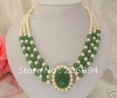 green jade and pearl jewelry