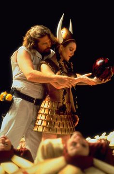 "In a dream, the Dude gives Maude the Valkyrie bowling tips in ""The Big Lebowski"""