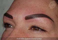 Fresh ombre eyebrows and healed eyeliner Permanent Makeup Eyebrows, Eyebrow Makeup, Tattoo T, Eyeliner Tattoo, Elegant Dresses, Boho Dress, New Look, Eyes, Face