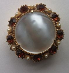 Vintage Jeweled Mother of Pearl Pillbox Florenza by RayannsVintage, $22.00