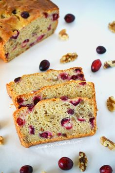 Gluten Free Cranberry Orange Bread-full of fresh cranberries, orange zest and walnuts. From What The Fork Food Blog.