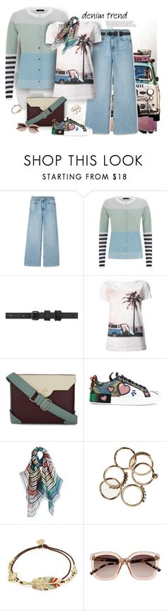 """""""Flare Up: Wide-Leg Jeans"""" by ysmn-pan ❤ liked on Polyvore featuring Paul Smith, Haider Ackermann, Emporio Armani, MANU Atelier, Dolce&Gabbana, Gas Bijoux, Witchery, contest, denimtrend and widelegjeans"""