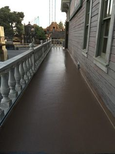 This is a Urethane balcony floor installed at theme park located in Buena Park Ca. RyanCo also waterproofed this balcony to match the existing design