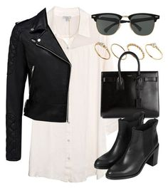 Untitled #2961 by laurenmboot on Polyvore featuring Clu, Forever New, Topshop, Yves Saint Laurent, ASOS and Ray-Ban