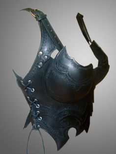 Warrior Lady Half Corset  Dark Chest&Back Armor  Leather