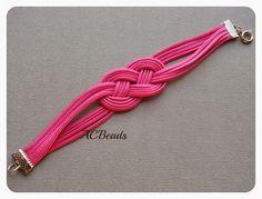 Strawberry Pink Infinity Bracelet #ACBEADS