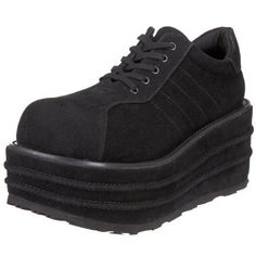 Pleaser Mens Tempo 08 Platform Sneaker Black Veggie Suede7 M US *** Read more reviews of the product by visiting the link on the image.
