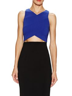 Purdy Cropped Top with Seaming Detail jay Godfrey