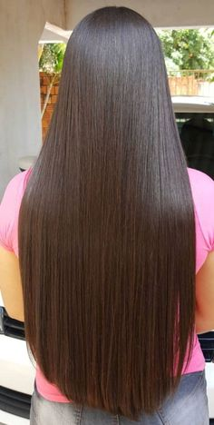 Long Hair Care Basics for Beautiful, Long, Healthy Hair. About Long Hair Care. It's pretty common to hear that in order to grow long hair, you just stop cutting it. Long Silky Hair, Long Dark Hair, Grow Long Hair, Long Layered Hair, Very Long Hair, Beautiful Long Hair, Gorgeous Hair, Straight Hairstyles, Pretty Hairstyles