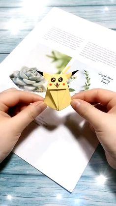 Diy Crafts Hacks, Diy Crafts For Gifts, Diy Arts And Crafts, Diy Crafts Videos, Fun Crafts, Diy Videos, Origami Pokemon, Instruções Origami, Oragami