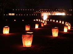 luminarias for a holiday party