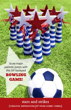 Score major patriotic points with this DIY backyard bowling game!