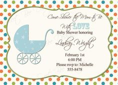 Printable Baby or Bridal Shower Invitation by SweetBeeDesignShoppe