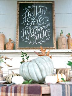 Holly Mathis Interiors: Gather Around The Table Christmas Program, Christmas Time, Thanksgiving Decorations, Happy Thanksgiving, Modern Caligraphy, Lindsay Letters, Canvas Letters, Beautiful Handwriting, Jesus Birthday