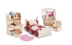Calico Critters Sister's Bedroom Set by Calico Critters. $26.75. Mix and match with other Calico Critter furniture and accessories sets. Every little Critter girl's dream room. Sister's Bedroom Set is specifically made for Calico Critter houses, yet can be used alone with lots of imagination. Includes bed with matching comforter and pillow, vanity with movable mirrors and drawers, desk with drawers, and much more. Over 30 furniture pieces and accessories. From the Manufacturer   ...