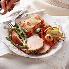 Herb-Crusted Boneless Pork Roast  - CountryLiving.com