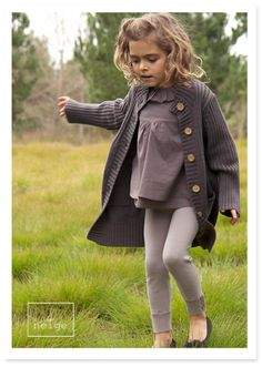 more grey, more layers for little girl look fashion
