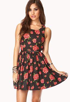Dainty A-Line Dress w/ Belt | FOREVER21 - 2000111932