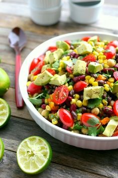 Avocado and Three Bean Salad is a filling and satisfying dish (Bean Salad Recipes) Vegaterian Recipes, Bean Recipes, Salad Recipes, Cooking Recipes, Healthy Recipes, What's Cooking, Recipes Dinner, Recipies, 3 Bean Salad