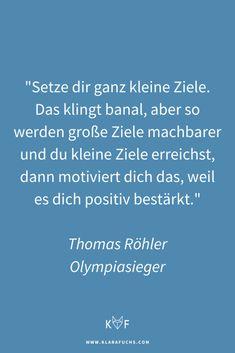 Olympiasieger Thomas Röhler über Ziele, Motivation und Performance - Klara Fuchs Olympia, Mental Training, Motivation, Fitness, Healthy Living, Achieving Goals, Fox, Health, Healthy Life