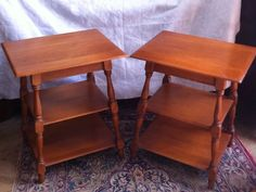 Heywood Wakefield Mid Century 3 Tiered Tier End Table C608 Maple Stand