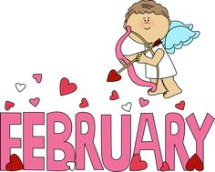 February Birthday | February Valentine Love Clip Art Image - the word February in large ...