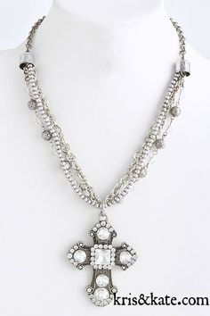 Chic cross pendant with crystals.  https://www.krisandkate.com/dealoftheday.html