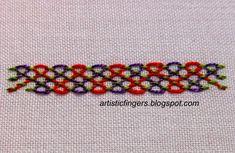 artisticfingers: Stitch tutorial - Fancy laced running stitch # 2