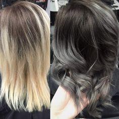 Si te encanta innovar, es hora de probar con el degradado a gris. | 18 Transformaciones de cabello que inspirarán tu nuevo look de 2016