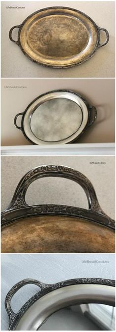 Turn an old silver tray into an antique mirror. A how to. l lifeshouldcostless.com