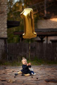 фотосессия на годик, идея фотосессии на первый день рождения