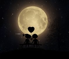 i and moon and my best friend. by Arnis Gashi /