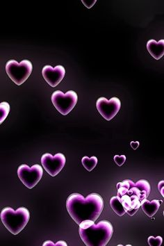 The purple hearts wallpaper on my iPhone for Valentine's Day. by concetta Purple Love, Purple Rain, Purple Stuff, All Things Purple, Shades Of Purple, Purple Hearts, Neon Purple, Pink, Heart Wallpaper