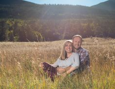 Rocky Mountain National Park Fall Engagement Sunny Sky