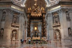 Saint Peters Basilica, Vatican City, Rome - checked, but MISSED looking over at the Pieta!  What?!  Must go back.  2003 #bucketlist