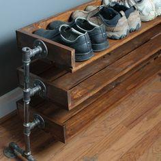 KG38001 - Kệ giày dép ống nước 3 tầng gỗ cao su