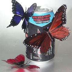 Drink Can Butterflies http://www.instructables.com/id/Drink-Can-Butterflies/