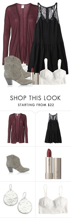 Allison Inspired Outfit with a Burgundy Cardigan by veterization on Polyvore featuring Vero Moda, Forever 21, Ash, Nest and Ilia