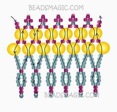Free pattern for beaded necklace Madlena | Beads Magic