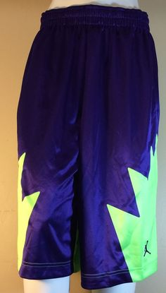 76e250f45c7 Men's Jordan Purple Green Basketball Shorts (2XL) #Jordan #Shorts Jordan  Shorts,