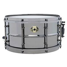 "Ludwig Black Magic 7x13"" Brass Snare Drum"
