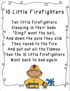 FREEBIE: Kindergarten - Nice literacy connection to a community helpers unit fire Preschool Music, Preschool Lessons, Preschool Fire Safety, Preschool Fingerplays, Fire Safety Crafts, Preschool Prep, Preschool Curriculum, Preschool Activities, Community Workers