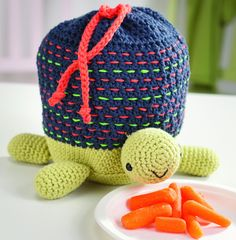 "turtle lunch bag  pattern in ""Amigurumi on the Go: 30 Patterns for Crocheting Kids' Bags, Backpacks and More"""