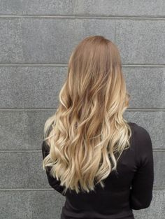 Natural blonde ombre.