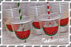 Watermelon Birthday Party Cups-Party Favor by PartyCupMedley