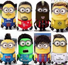 Si Neymar, Cristiano Ronaldo, Ribéry ou Ibrahimovic étaient des #Minions #humour…