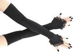 extra long black fingerless gloves arm warmers by FashionForWomen Long Gloves, Black Gloves, Kitten Play Collar, Wedding Gloves, Vintage Gloves, Costume, Burlesque, Fingerless Gloves, Gothic Fashion
