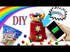 DIY Bubblegum Machine Phone Charger! How To Make A {Working} Candy Machine-Cool DIY Crafts-Tutorials - YouTube